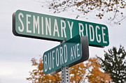 Street Sign Digital Art Posters - Seminary Ridge and Buford Ave - Gettysburg Poster by Bill Cannon