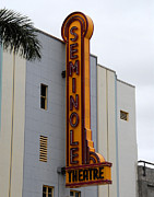 Florida House Posters - Seminole Theatre 1940 Poster by David Lee Thompson