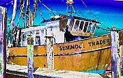 Shrimp Boat Prints - Seminole Trader Print by Joseph G Holland