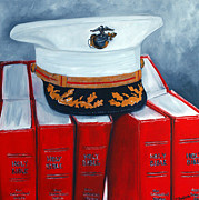 Corps Painting Originals - Semper Fi by Traci Dalton