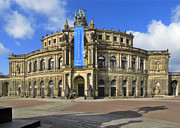 Historic Statue Prints - Semper Opera House - Semperoper Dresden Print by Christine Till