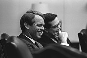 Ted Sorensen Framed Prints - Sen. Robert Kennedy And Ted Sorenson Framed Print by Everett