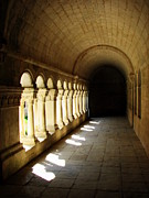 Abbaye Prints - Senaque Abbey Arched Aisle Print by Carla Parris
