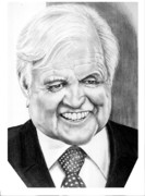 Senator Edward Kennedy Print by Murphy Elliott