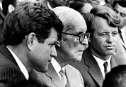 Senator Kennedy Metal Prints - Senator Edward M. Kennedy, Joseph P Metal Print by Everett