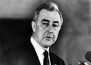 Senator Eugene Mccarthy, At A Press Print by Everett