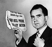 Headlines Prints - Senator Richard Nixon Calls Print by Everett