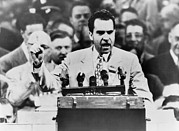 Future Presidents Prints - Senator Richard Nixon Standing Print by Everett
