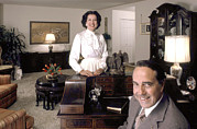 1980s Prints - Senator Robert Dole And His Wife Print by Everett