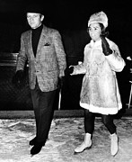 Skating Photos - Senator Robert F. Kennedy And Ethel by Everett