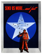 United Air Framed Prints - Send Us More and Fast  Framed Print by War Is Hell Store