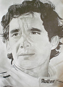 Rain Drawings - Senna by Lee Billingham