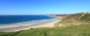 Sennen Cove Framed Prints - Sennen Cove - Panoramic Framed Print by Carl Whitfield
