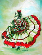 Mexican Dancing Prints - Senora de la Noche Print by Heather Calderon