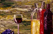 Wine Bottle Paintings - Sensual Nectar 3 by Mark Moore