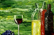 Wine Bottle Paintings - Sensual Nectar without signature by Mark Moore