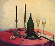 Champagne Glasses Painting Framed Prints - Sensual Pleasures Framed Print by Michael John Cavanagh