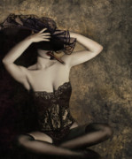 Self Portraits Art - Sensuality in Sepia - Self Portrait by Jaeda DeWalt