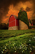 Red Barn Metal Prints - Sentient Metal Print by Phil Koch