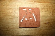 Clay Ceramics Posters - Sentiment 1 - tile Poster by Gloria Ssali