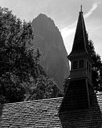Mariposa County Prints - Sentinel Rock and Yosemite Valley Chapel Print by Troy Montemayor