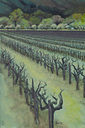 Grapevines Painting Originals - Sentinels by Sharon Wenz