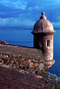 Old San Juan Photo Prints - Sentry Box El Morro Fortress Print by Thomas R Fletcher