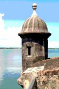 El Mar Art - Sentry Box in El Morro by Alice Terrill