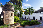 Colonial Architecture Posters - Sentry Post in Casa Blanca Poster by George Oze