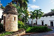 Colonial Architecture Photos - Sentry Post in the Courtyard by George Oze