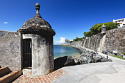 Colonial Architecture Framed Prints - Sentry Post on Paseo Del Morro Framed Print by George Oze