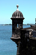 Destinations Digital Art Digital Art - Sentry Tower Castillo San Felipe Del Morro Fortress San Juan Puerto Rico Fresco by Shawn OBrien