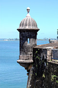 Puerto Rico Art - Sentry Tower Castillo San Felipe Del Morro Fortress San Juan Puerto Rico by Shawn OBrien