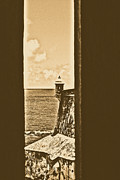 Landmark Art - Sentry Tower View Castillo San Felipe Del Morro San Juan Puerto Rico Rustic by Shawn OBrien