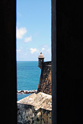 San Juan Framed Prints - Sentry Tower View Castillo San Felipe Del Morro San Juan Puerto Rico Framed Print by Shawn OBrien