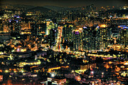 High Tower Framed Prints - Seoul At Night Framed Print by Copyright Artem Vorobiev