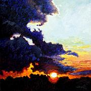 Sunrise Painting Originals - Separating the Light from Darkness by John Lautermilch
