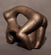Female Form Sculptures - Separation Of Earth From Body by Lonnie Tapia