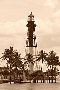 Lights Digital Art Originals - Sepia Light House  by Rob Hans