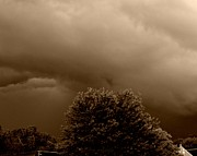 Meteorological Posters - Sepia Storm Poster by Chris Berry