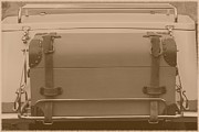Leather Straps Prints - Sepia Suitcase Print by Sophie Vigneault