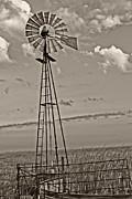 TONY GRIDER - Sepia WIndmill and Tank
