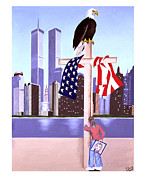 2001. World Trade Center. Paintings - Sept. 11th- God is our Refuge- psalm 121 by Troy Guillory