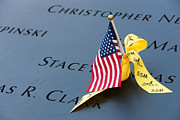 Flag Of Usa Prints - September 11 Memorial Flag I Print by Clarence Holmes