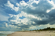 Florida East Coast Framed Prints - September Beach 3 Framed Print by Susanne Van Hulst