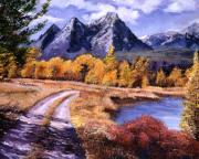 Roads Paintings - September High Country by David Lloyd Glover