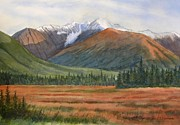 Glacier Paintings - September in Glacier Valley by Sharon Freeman