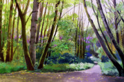 Contemplative Paintings - September in Springbrook Park by Melody Cleary
