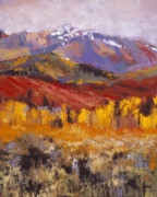 Aspen Trees Pastels Prints - September Layers Print by Dennis Rhoades