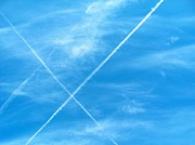 Jet Trails Posters - September Sky II Poster by Kip DeVore